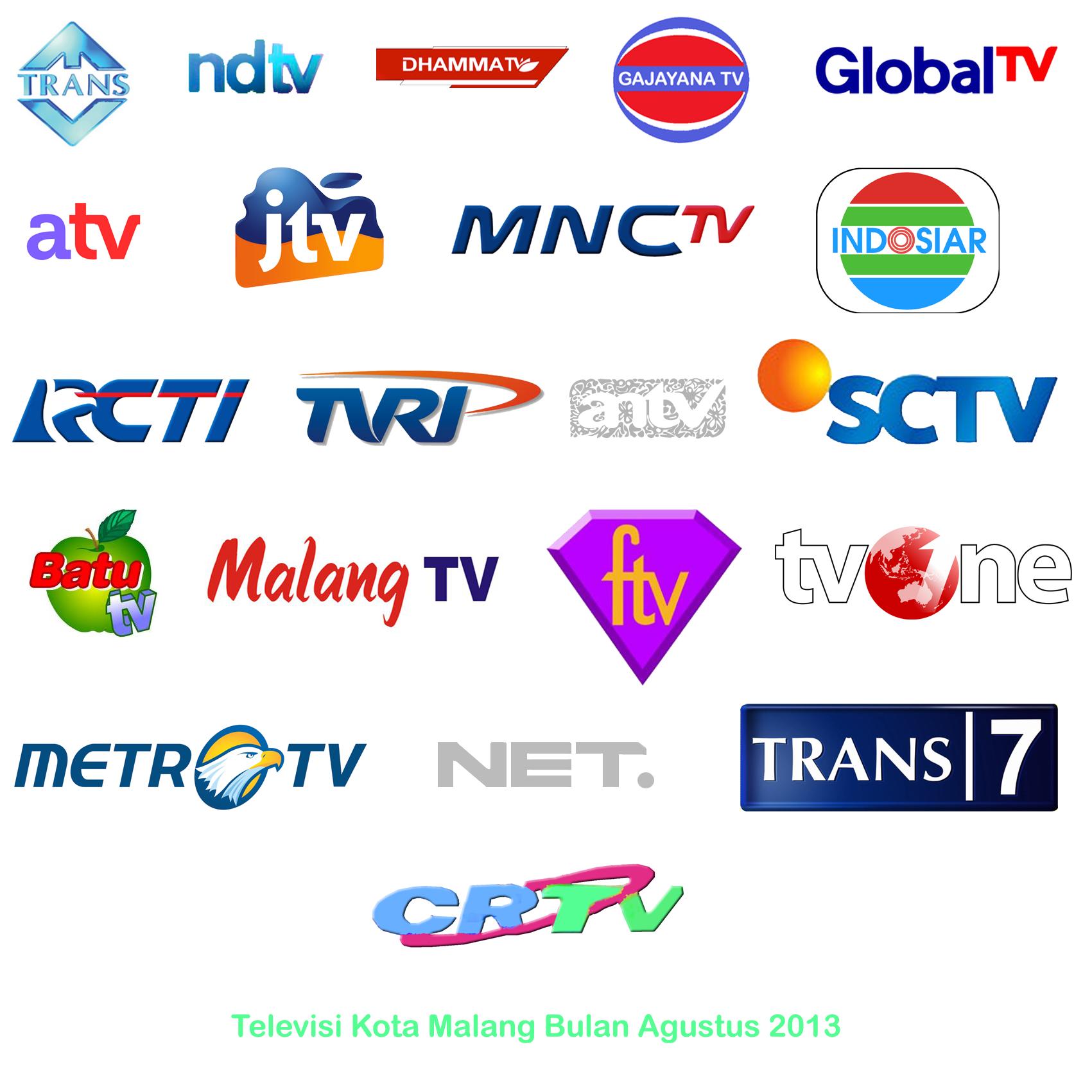 daftar siaran televisi di kota malang agustus 2013
